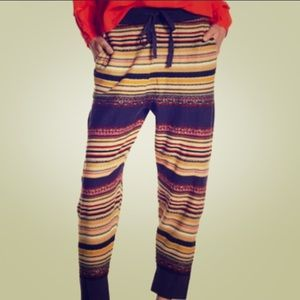 Free People All Mixed Up Striped Jogger Pants